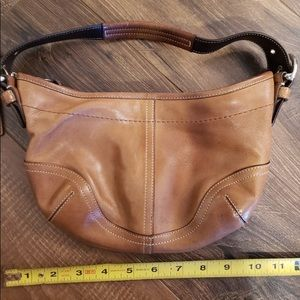 Coach small leather hobo